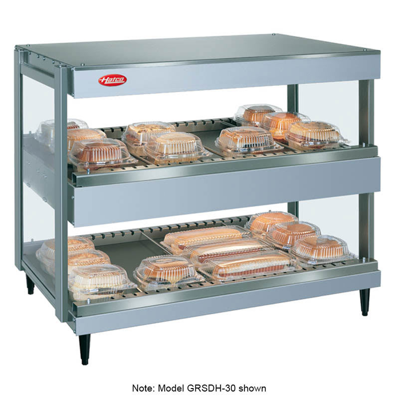 "Hatco GRSDH-60D 60"" Self-Service Countertop Heated Display Shelf - (2) Shelves, 240v/1ph"