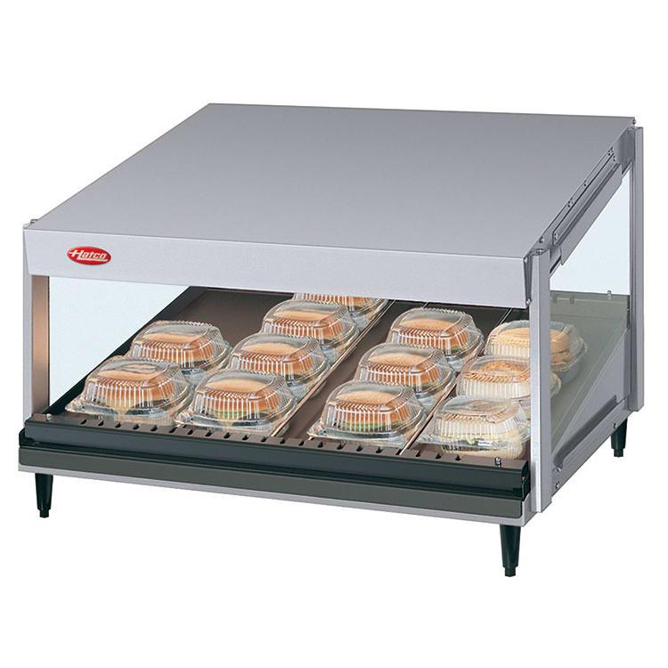"Hatco GRSDS-24 24"" Self-Service Countertop Heated Display Shelf - (1) Shelf, 120v"