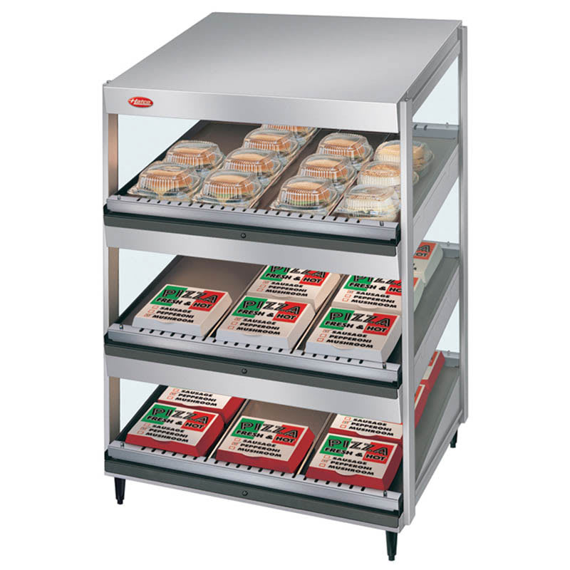 "Hatco GRSDS-24T 24"" Self-Service Countertop Heated Display Shelf - (3) Shelves, 120v"