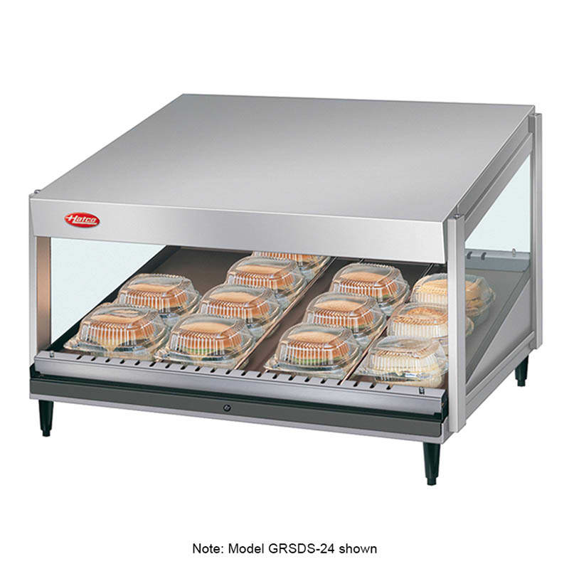 "Hatco GRSDS-41 41"" Self-Service Countertop Heated Display Shelf - (1) Shelf, 120v"