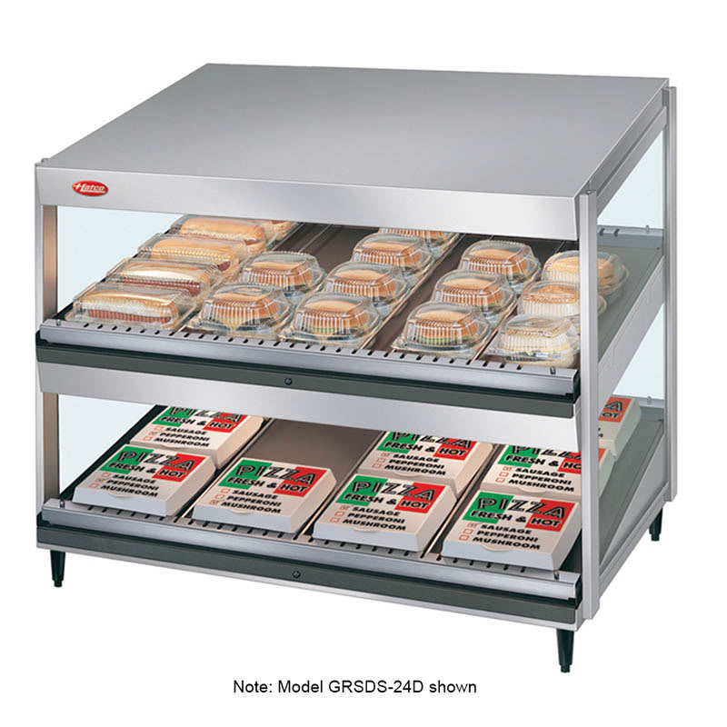 "Hatco GRSDS-52D 52"" Self-Service Countertop Heated Display Shelf - (2) Shelves, 120v"