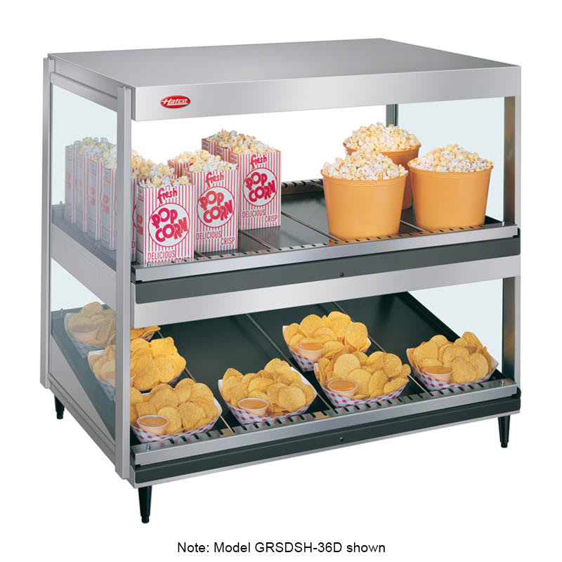 "Hatco GRSDS/H-30D 30"" Self-Service Countertop Heated Display Shelf - (2) Shelves, 120v"