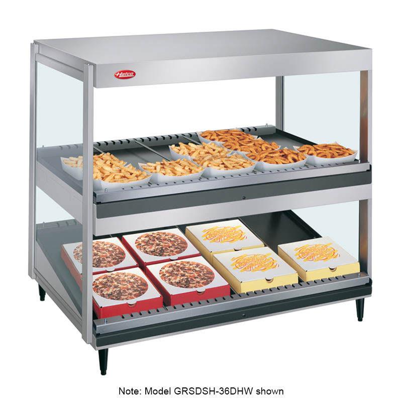 "Hatco GRSDS/H-30DHW 30"" Self-Service Countertop Heated Display Shelf - (2) Shelves, 120v"