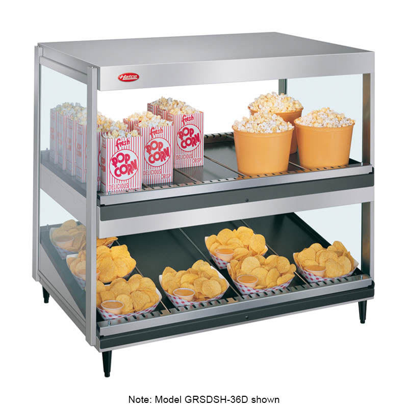 "Hatco GRSDS/H-41D 41"" Self-Service Countertop Heated Display Shelf - (2) Shelves, 120v"