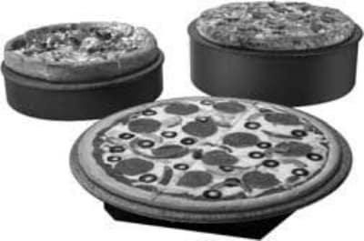 "Hatco GRSSR-16 16"" Round Portable Heated Stone Shelf, Gray Granite Stone, 120 V"