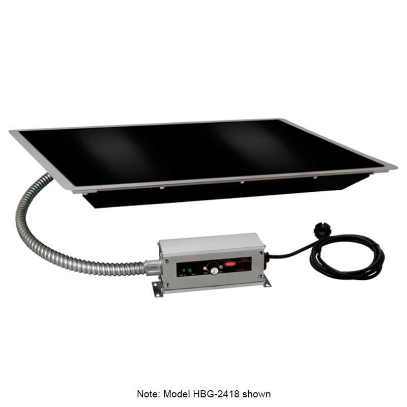 "Hatco HBG-3018 30"" Portable Heated Glass Shelf w/ Thermo Control, Black, 120 V"