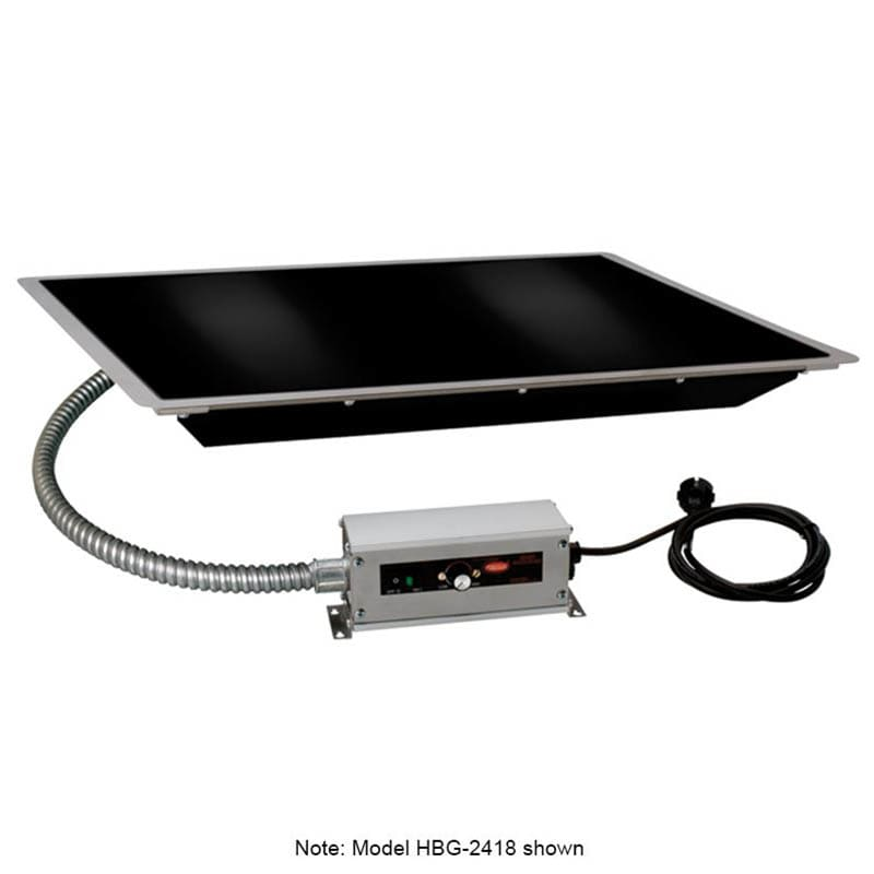 "Hatco HBG-4818 48"" Portable Heated Glass Shelf w/ Thermo Control, Black, 120 V"