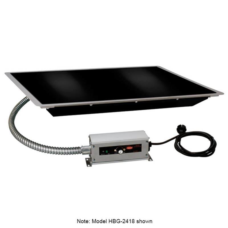 "Hatco HBG-6018 60"" Portable Heated Glass Shelf w/ Thermo Control, Black, 120 V"