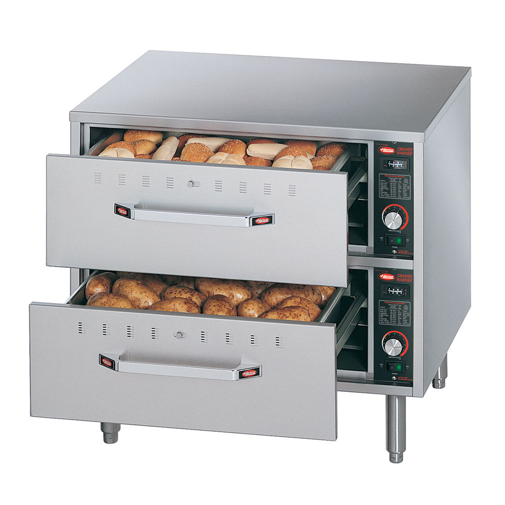 Hatco HDW 2 Freestanding Warming 2 Drawer Unit For Standard Size Pans, 120 V