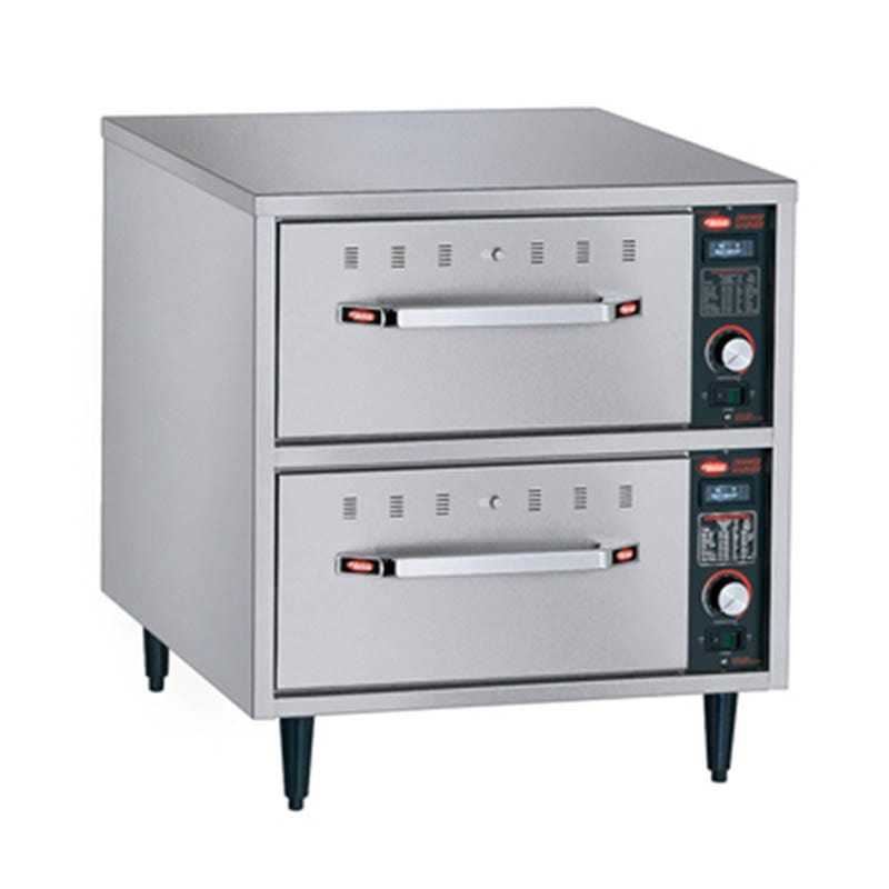 Hatco HDW-2N Freestanding Narrow Warming 2-Drawer Unit For Standard Pans, 120 V