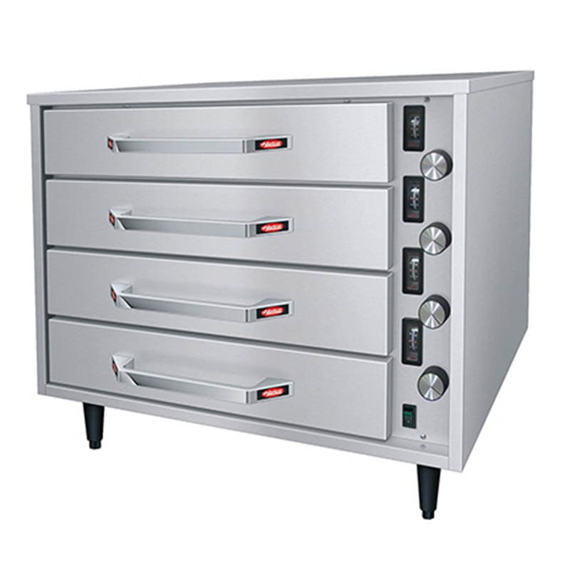 Hatco HDW-2R2 Free Standing Warming Unit w/ 4 Drawer & 2 Pan, Thermostatic Control, Stainless