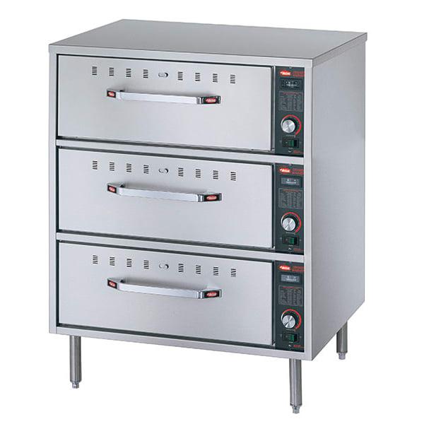 Hatco HDW-3 Freestanding Warming 3-Drawer Unit For Standard Size Pans, 120 V