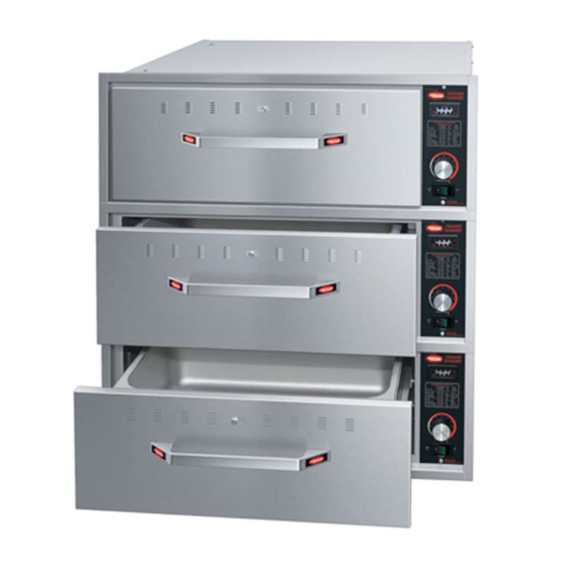 Hatco HDW-3B Built-in Warming 3-Drawer Unit For Standard Pans, 120 V