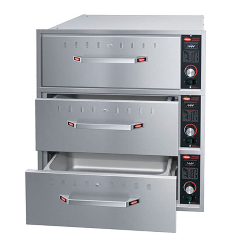 Hatco HDW-3B Built-in Warming 3-Drawer Unit For Standard Pans, 208 V
