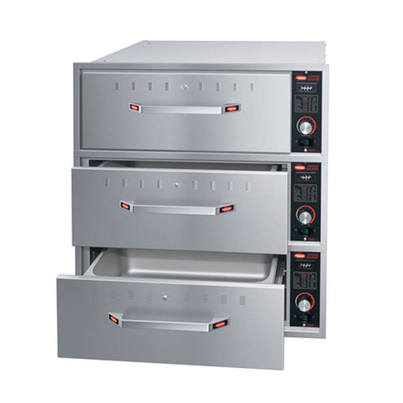 Hatco HDW-3BN Built-in Narrow Warming 3-Drawer Unit For Standard Pans, 208 V