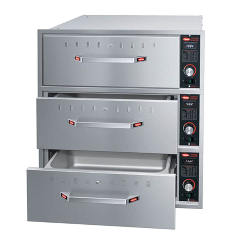 Hatco HDW-3BN Built-in Narrow Warming 3 Drawer Unit For Standard Pans, 240 V