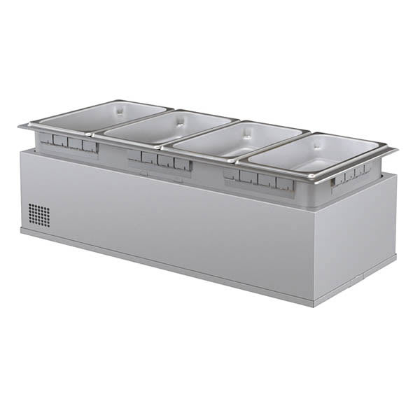 Hatco HWBHI-43 Built-In Heated Well w/ 4-Pan Capacity, Remote Thermostat, Stainless, 240v/1ph