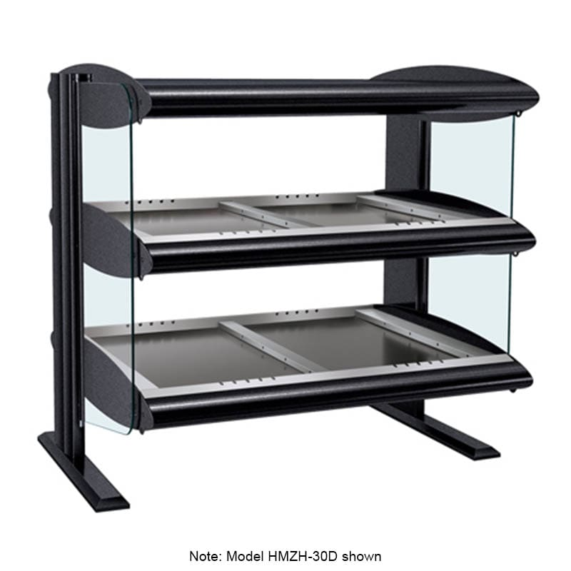 "Hatco HZMH-24D 27.9"" Self-Service Countertop Heated Display Shelf - (2) Shelves, 120v"