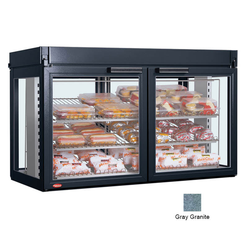 "Hatco LFST-48-2X 48.81"" Self-Service Countertop Heated Display Case - (3) Shelves, Gray, 240v/1ph"