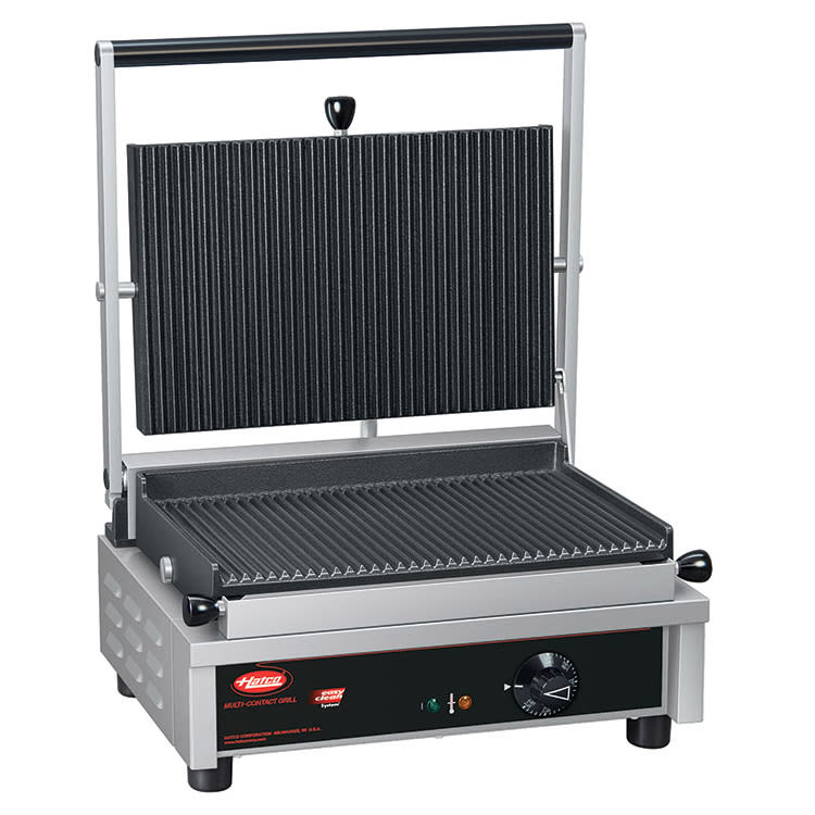 Hatco MCG14G Commercial Panini Press w/ Cast Iron Grooved Plates, 208v/1ph