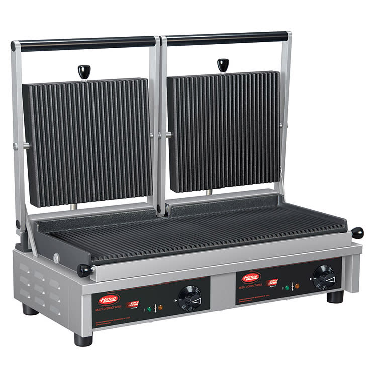 Hatco MCG20G Commercial Panini Press w/ Cast Iron Grooved Plates, 240v/1ph