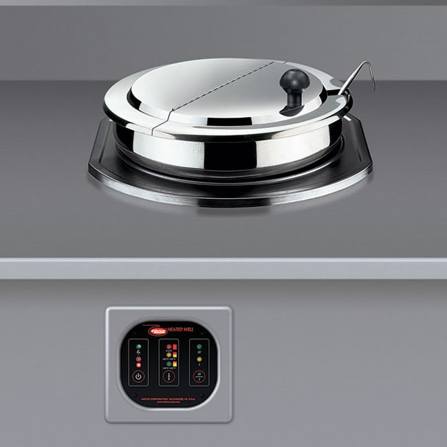 Hatco RHW-1B 11-qt Built-In Round Food Warmer/Cooker - Thermostatic, Stainless, 120v