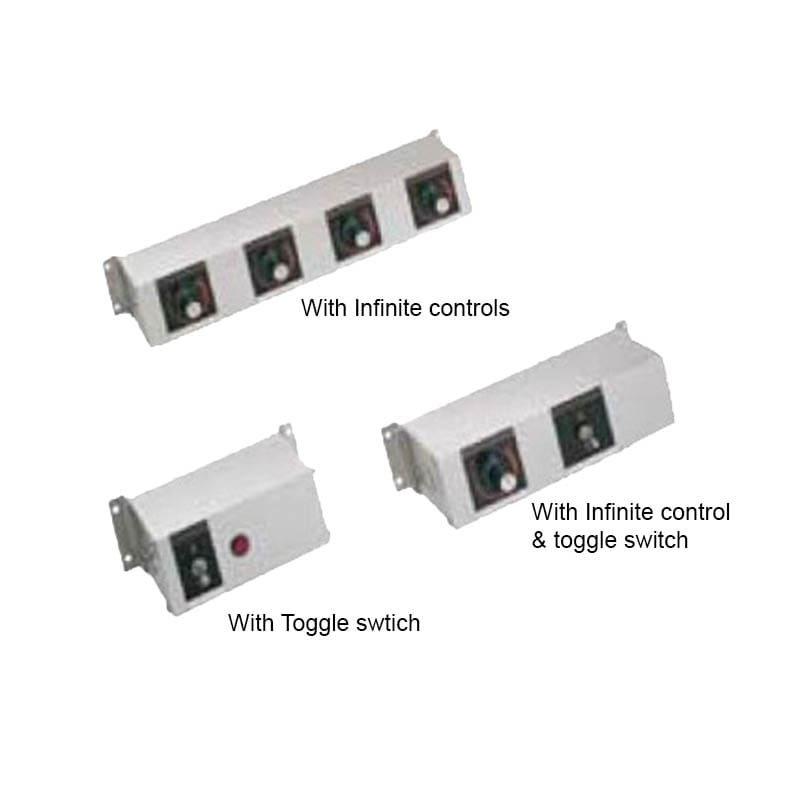 """Hatco RMB-14O 14"""" Remote Control w/ 2-Toggle & 2"""" Finite Switches for 120 V"""