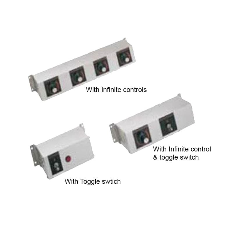 """Hatco RMB-16B 16"""" Remote Control Box w/ Toggle & 4"""" Finite Switches for 120 V"""