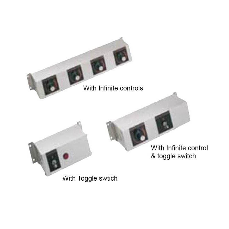 "Hatco RMB-7I 9"" 2 Light Remote Control Box w/ 2 Toggle Switches for 120 V"