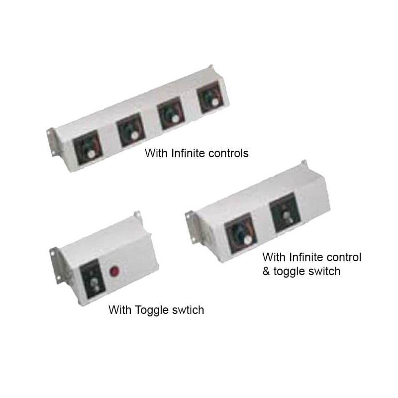 "Hatco RMB-7Q 9"" 1-Light Remote Control, Toggle & Infinite Switch for 240v/1ph"