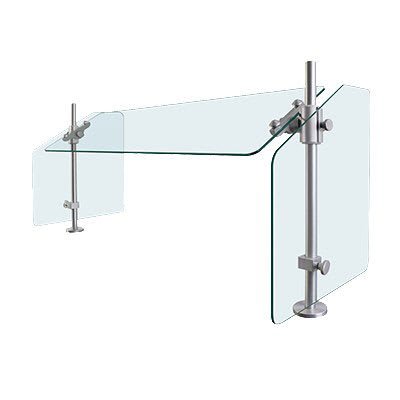 "Hatco SGCP-60 60"" Table-Mounted Sneeze Guard - Corner Post, Aluminum Posts"