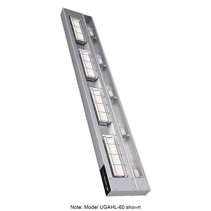 "Hatco UGAHL-72 72"" Foodwarmer w/ 1 Ceramic Strip & High Watt, Lights, 240 V"
