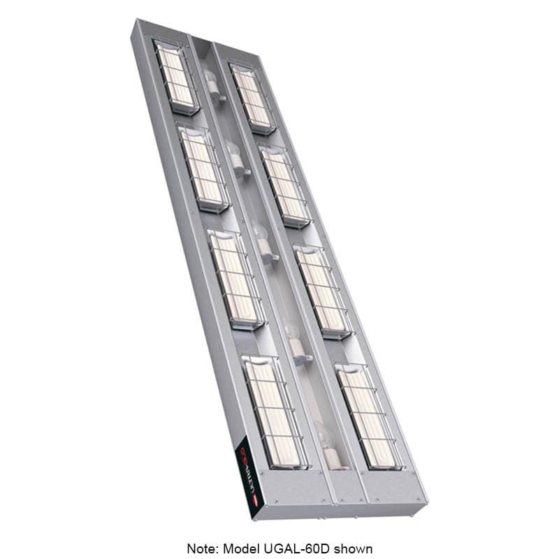 """Hatco UGAL-48D3 48"""" Foodwarmer, 2-Ceramic w/ 3"""" Space & Lights, 208 V"""