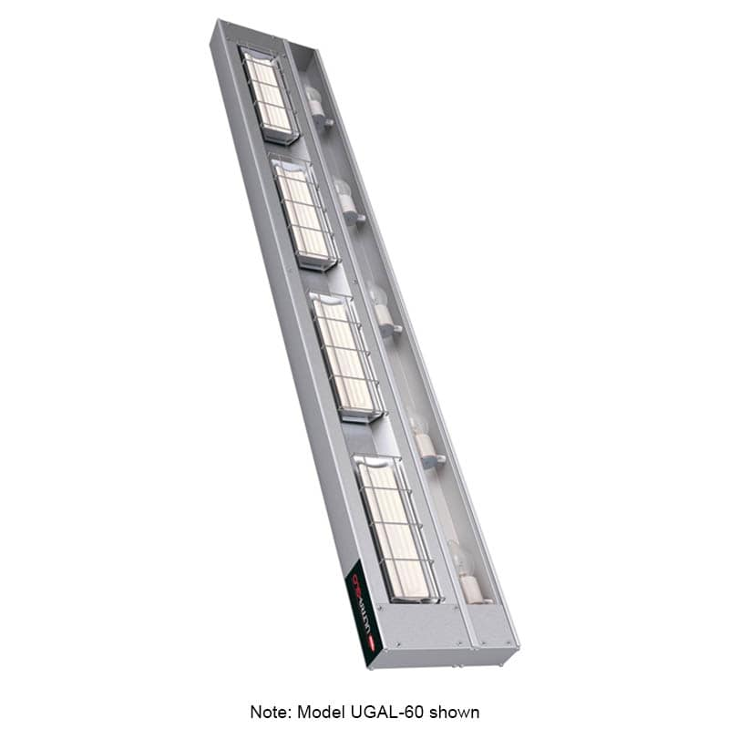 "Hatco UGAL-60 60"" Foodwarmer w/ 1 Ceramic Strip & Lights, 240 V"