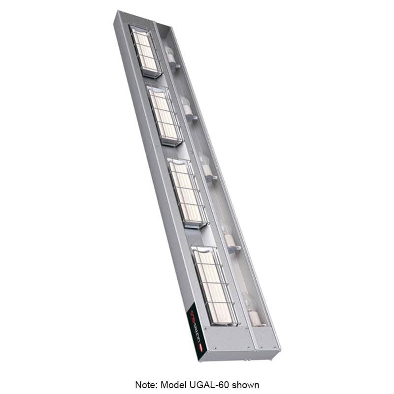 "Hatco UGAL-72 72"" Foodwarmer w/ 1 Ceramic Strip & Lights, 240 V"