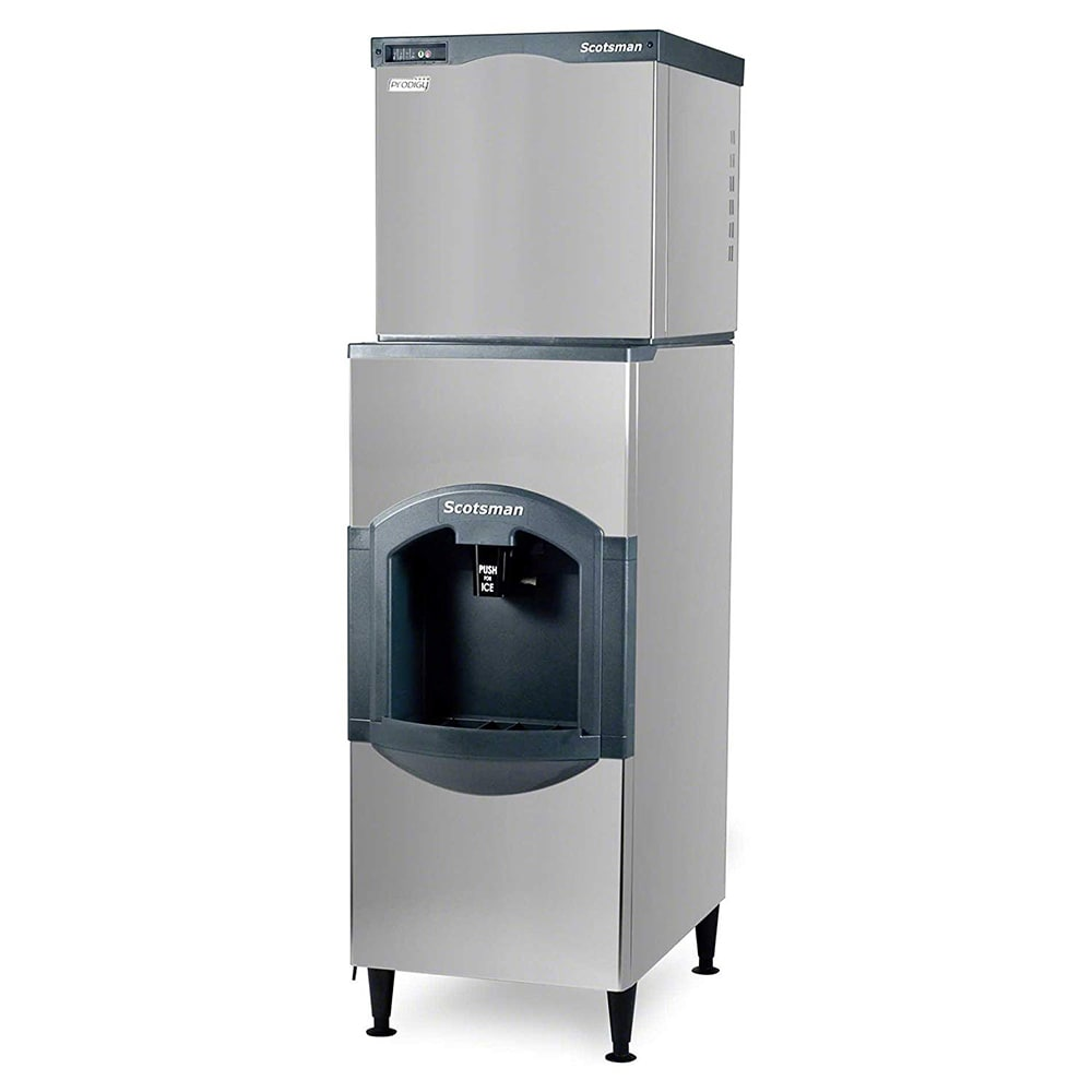 Scotsman C0322MA-1/HD22B-1 356 lb Full Cube Ice Maker w/ Ice Dispenser - 120 lb Storage, Bucket Fill, 115v