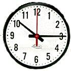 Lathem 12RFAG Analog Wall Clock, 12in Face
