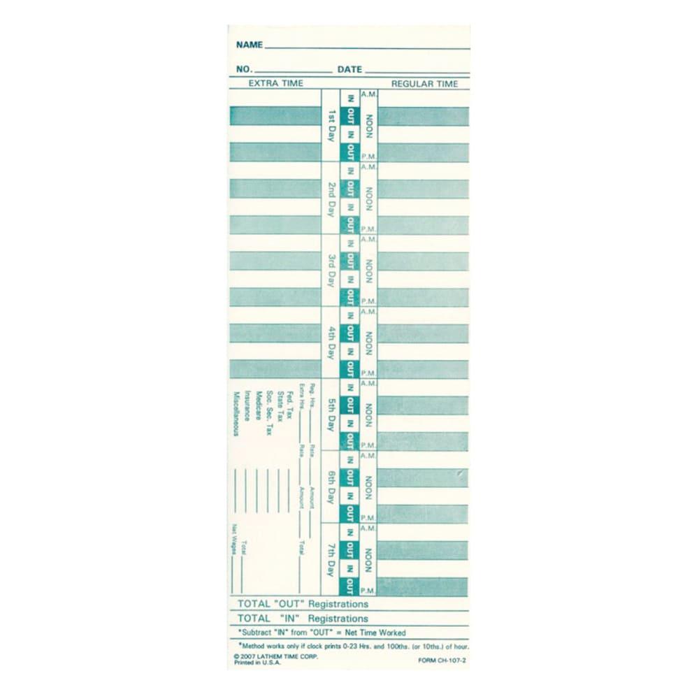 Lathem CH1072C Time Clock Accessories, Time Cards