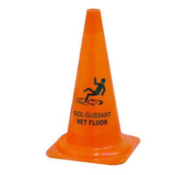 "Dynamic BS001 19"" Wet Floor Safety Cone, Trilingual"
