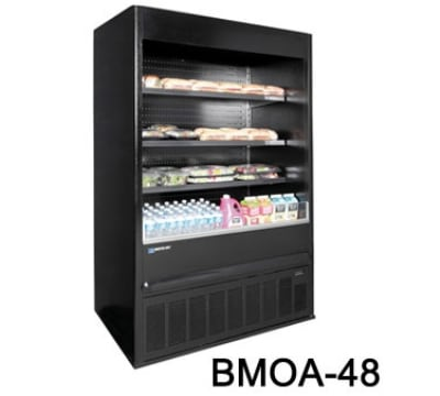 "Master-bilt BMOA-48 52"" Vertical Open Air Cooler w/ (4) Levels, 208-230v/1ph"