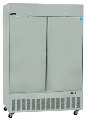 "Master-bilt BSD-52DFA 55"" Two Section Reach-In Freezer, (2) Solid Doors, 115v"