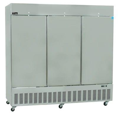 "Master-bilt BSD-80TFA 85.5"" Three Section Reach-In Freezer, (3) Solid Doors, 208v/1ph"
