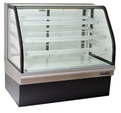 "Master-bilt CGB-50NR 50"" Full Service Bakery Case w/ Curved Glass - (4) Levels, 115v"