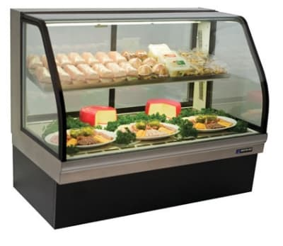 "Master-bilt CGD-50 50"" Full Service Deli Case w/ Curved Glass - (2) Levels, 115v"