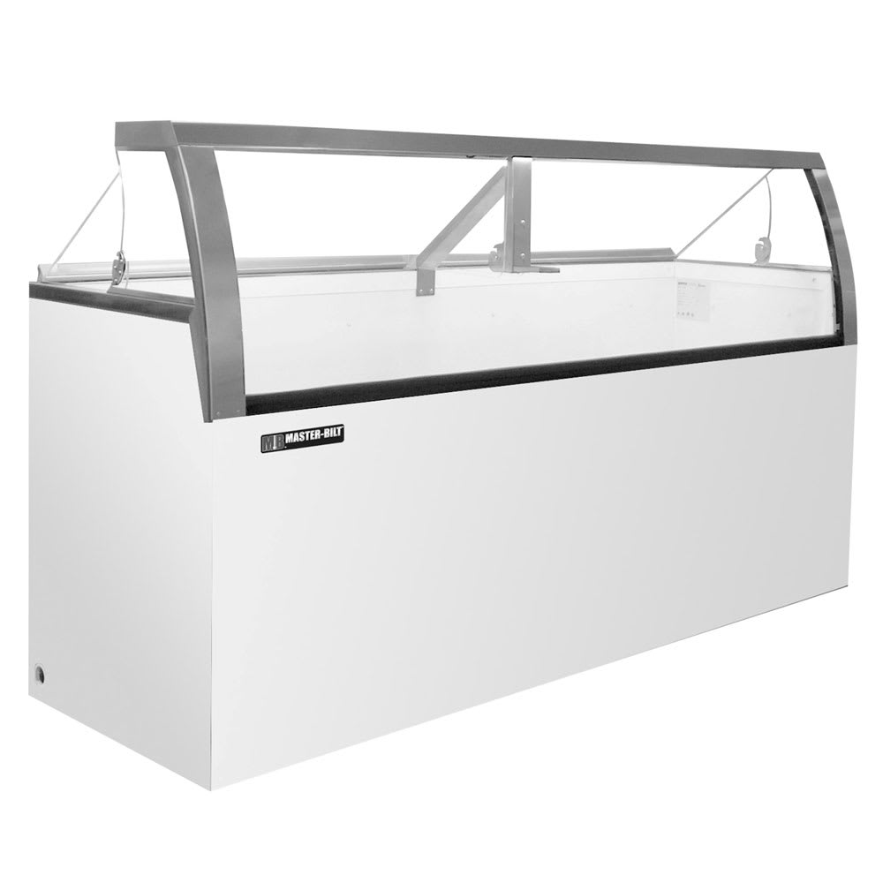 "Master-bilt DD-66LCG 69.25"" Stand Alone Ice Cream Freezer w/ 12-Tub Capacity & 8-Tub Storage, 115v"
