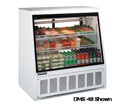 "Master-bilt DMS-72F 72"" Full Service Deli Case w/ Straight Glass - (3) Levels, 115v"