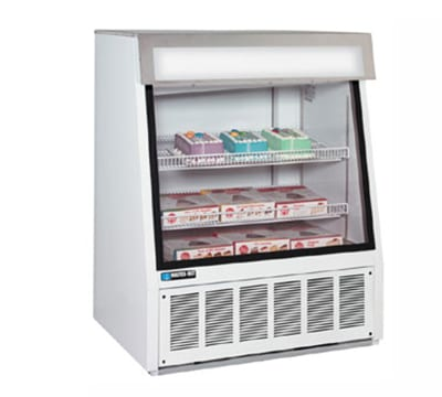 "Master-bilt FIP-40 40"" One-Section Display Freezer w/ Swinging Doors - Bottom Mount Compressor, 115v - White"