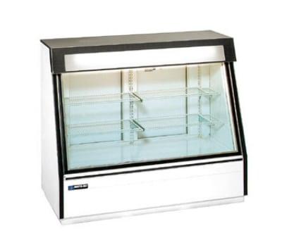 """Master-bilt FIP-50 60"""" One-Section Display Freezer w/ Swinging Doors - Rear Mount Compressor, Black, 115v"""