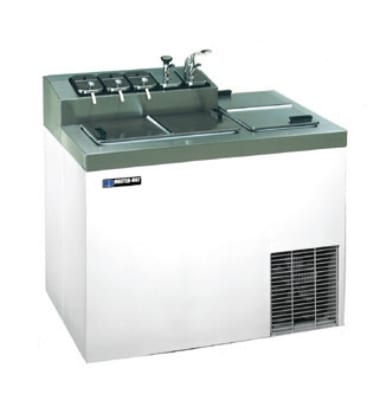 "Master-bilt FLR-60SE 43"" Stand Alone Ice Cream Freezer w/ 5-Tub Capacity & 7-Tub Storage, 115v"