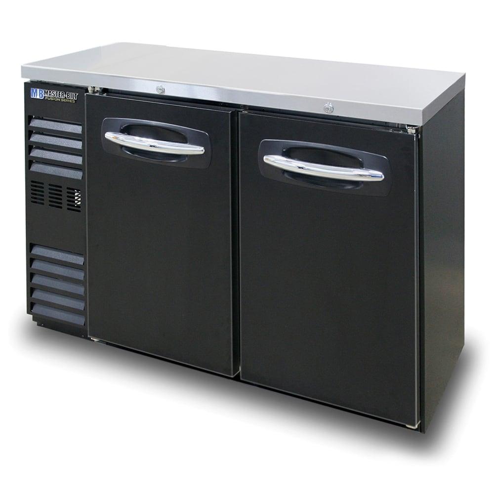 "Master-bilt MBBB48N 48"" (2) Section Bar Refrigerator - Swinging Solid Doors, 115v"